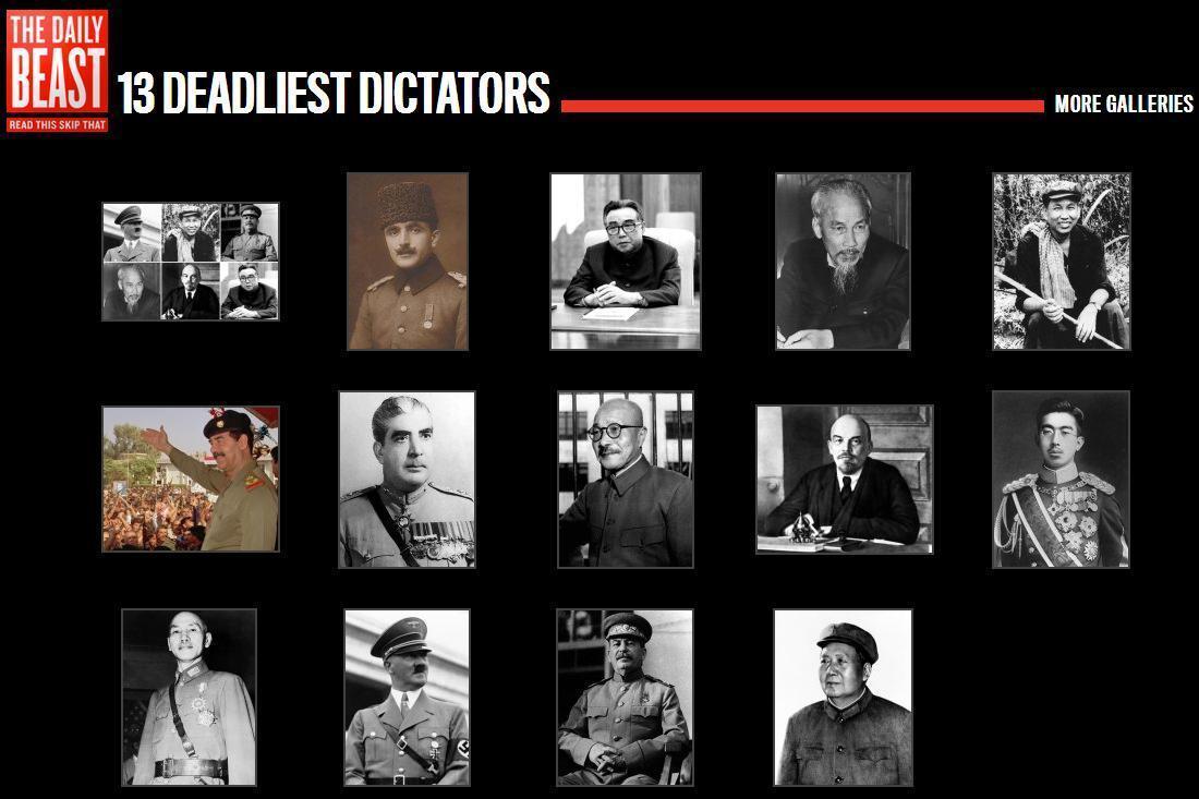 1 trong 13 tên đồ tể độc tài khát máu của thế kỷ 20